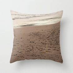 Beach Sand 7136 Throw Pillow by metamorphosa - $20.00