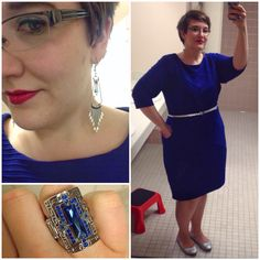 #DYTType4 #ootd for church. Dress through #GwynnieBee from designer #JessicaHoward. Jewelry from #paparazziaccessories (link in profile). Belt from Walmart. Shoes are a #thriftstorefind! #boldlips #type4bold #HighShineSilver #dyt #dressingyourtruth #instafashion #MomFashion #wiw #wiwn #wiwt