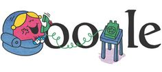 Google Doodle for Roger Hargreaves birthday! Little Miss Chatterbox