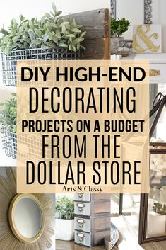 diy home decor on a budget dollar stores I decided to share some of the best DIY high-end home decorating on a budget from the Dollar Store that I could find to help spark inspiration. DIY home decor on a budget dollar store Dollar Store Hacks, Astuces Dollar Store, Dollar Stores, The Dollar Store, Dollar Store Mirror, Diy Home Decor Rustic, Diy Home Decor Easy, Farmhouse Decor, Decor Diy