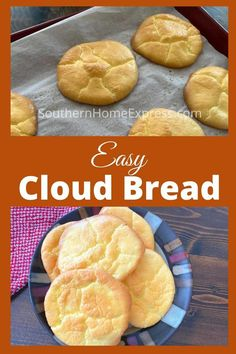 Cloud bread is the perfect bread substitute for anyone following a gluten-free, keto, Atkins, or other low-carb diet. It's also easy to make and delicious! #ketobreadrecipe #glutenfreebread #cloudbreadrecipe