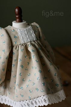 A tea-dyed dress for Clara by Fig & Me, via Flickr