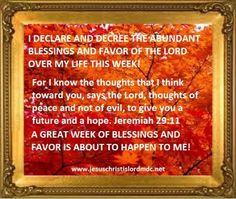 www.jesuschristislordmdc.net, - I DECLARE AND DECREE ABUNDANT ...