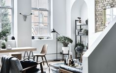 Home Decorating Style 2019 for 10 Plus Inspiring Built-in Cabinets Living Room, you can see 10 Plus Inspiring Built-in Cabinets Living Room and more pictures for Home Interior Designing 2019 at Homedecorlinks. Ikea Ps Table, Open Plan Apartment, Interior Architecture, Interior Design, Long Walls, Gravity Home, Ikea Frames, Built In Cabinets, Hallway Decorating