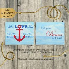 Nautical Room Decor, Nautical Wall Art, Nautical Nursery, Boys Room Decor, Anchor Nursery, Nautical Theme, Nursery Quotes, Nursery Wall Art, Nursery Decor