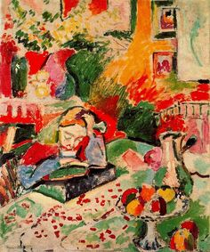 Henri Matisse - Interior with a Young Girl (Girl Reading) 1906. Oil on canvas, (Fauvism) gal