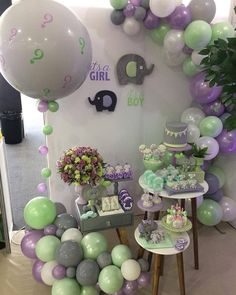 Gender Reveal Party Decorations, Baby Gender Reveal Party, Birthday Party Decorations, Baby Shower Parties, Baby Shower Themes, Baby Boy Shower, Simple Gender Reveal, Elephant Party, Baby Shower Princess