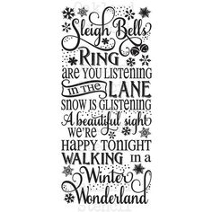 """Primitive Winter STENCIL**Sleigh bells ring Winter Wonderland 12""""x24""""... ($25) ❤ liked on Polyvore featuring home, home decor, wall art, blue wall art, tattoos picture, blue picture, blue home decor and bridge wall art"""