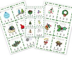 FREE Christmas Clap-the-Syllables Printables!