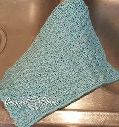 Woven Waters Dishcloth   Free Crochet Pattern   Graceful Fibers @gracefulfibers.com #freecrochetpattern