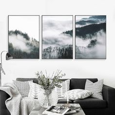 Lux Cloud Forests Leinwand Kunstdruck Wanddekoration Ideen Source by barbarastoehr Home Decor Pictures, Living Room Pictures, Wall Pictures, Living Room Art, Living Room Designs, Starry Night Art, 3 Piece Wall Art, Picture Wall, Decorating Your Home
