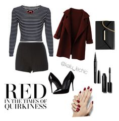 """""""Burning Red outfit"""" by kalu-lechic on Polyvore featuring RED Valentino, Dolce&Gabbana, Marc Jacobs, Bobbi Brown Cosmetics and MICHAEL Michael Kors"""