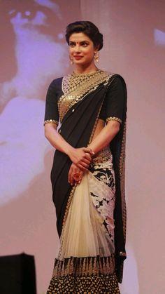 Indian Wedding Fashion, Indian Fashion Dresses, Asian Fashion, Indian Outfits, Look Fashion, Fashion Ideas, Indian Attire, Indian Ethnic Wear, Indian Style