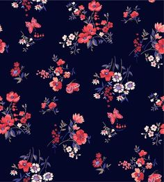 Trendy Seamless Floral Pattern in Vector Seamless Floral Print Wallpaper, Flower Wallpaper, Flower Patterns, Textile Patterns, Print Patterns, Ditsy Floral, Floral Fabric, Impression Textile, Pattern Texture