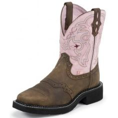 $80 Justin Ladies' Boots Cowhide Aged Bark Gypsy Cowgirl Collection