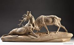 animal wood sculpture
