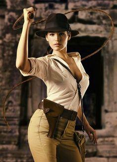 Indiana Jones (Rule 63) ~ Cos Play / By Kelly Brook