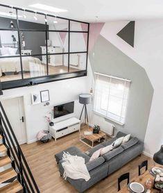 Siempre me han encantado estos tipos de lofts para una casa de soltera o con pareja, la idea de tener un espacio amplio y a la vez reducido...