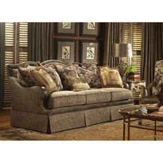 Highland House 4082 95 Fl Stratford Fabric Leather Sofa Available At Hickory Park Furniture