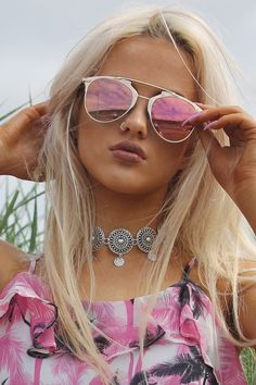 Pink & Gold Aviator Sunglasses PRE- ORDER