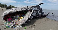 Giant 'Dead Whale' Is Haunting Reminder of Massive Plastic Pollution Problem. Greenpeace Philippines gives us an incredible look at the harms plastic has on marine life in this giant art exhibit Ocean Pollution, Plastic Pollution, Save Our Earth, Save The Planet, Salve A Terra, Plastic Problems, Save Our Oceans, Plastic Waste, Plastic Bags