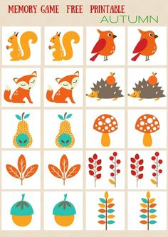 SEASONS - #MEMORY #GAME FREE PRINTABLES