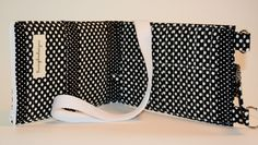 Black and White Polka Dot Organizer Wallet Purse with Multiple Card Slots by TrampLeeDesigns on Etsy