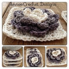 Water Lily Granny ~ gorgeous ~ free pattern