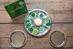 Green: Creating with Loose Parts & Playdough Kindergarten Sensory, Preschool, Sensory Bins, St Patricks Day, Green Colors, Activities For Kids, Make It Yourself, Create, Play Dough