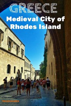 Medieval City of Rhodes Island, Greece | The cobbled streets will lead you to beautiful spots that will surprise you as you will meet side by side churches and mosques | Traveldudes Social Travel Blog & Community: