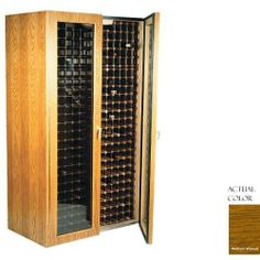 Vinotemp Vino-440tdg-mdwa 280 Bottle Wine Cellar - Glass Doors / Medium Walnut Cabinet by Vinotemp. $3939.00. Vinotemp VINO-440TDG-MDWA 280 Bottle Wine Cellar - Glass Doors / Medium Walnut Cabinet. VINO-440TDG-MDWA. Wine Cellars. This Wine Cellar features two double paned glass doors with piano hinges for a classic look to wine storage. The wine mate self contained cooling system ensures proper circulation while your wine is stored safely away. Digital temperature control makes t...