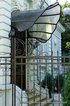 Art Nouveau style doorway awning, Bucharest