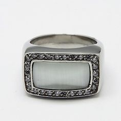 PandaHall Jewelry—316L Stainless Steel Finger Rings with Cat Eye and Cubic Zirconia | PandaHall Beads Jewelry Blog