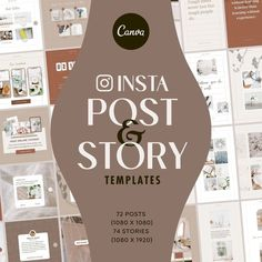 Instagram Post Story Template Pack is a set of Canva compatible template packs for Instagram posts & story size. You can save about 22% compared to buying them individually. Instagram Story Template, Social Media Design, Print Templates, Presentation Templates, Online Courses, Infographic, Design Inspiration, Learning, Instagram Posts