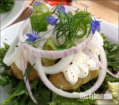 Danish open sandwich: Potato on Rye