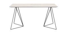Stół FLY, kolor: 01 Off White, czarny mat, wymiar: 160x85x76.  Miloni.pl