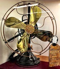 """1927 fully restored, GE 12"""" brass blade fan! #Wowsers #GaslampAntiques, S610, $450 https://www.pinterest.com/pin/429108670726275660/"""