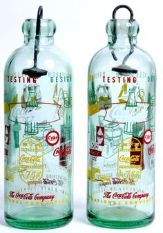 PAIR OF 1961 HUTCHINSON COCA-COLA BOTTLES