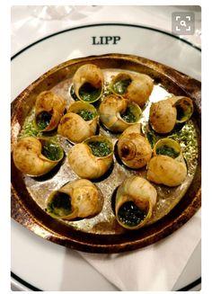 Escargot with wine, pesto broth