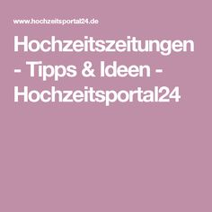 Hochzeitszeitungen - Tipps & Ideen - Hochzeitsportal24
