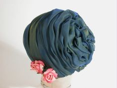 Hat, 1960 | Material: silk | National Trust Collections...ooo love this material...best turban