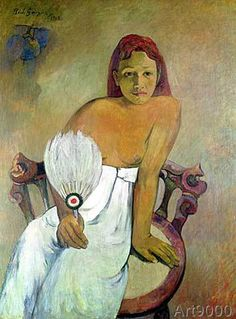 Paul Gauguin - Girl with fan, 1902 (59,0 x 80,0 cm)