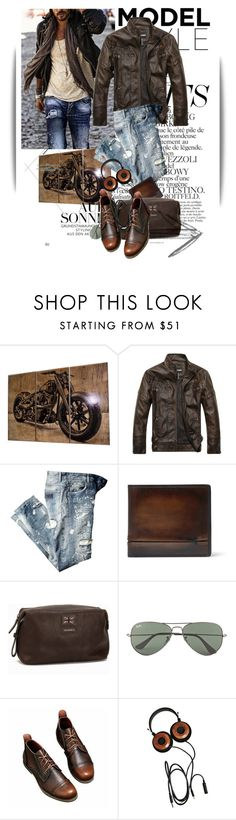 """Untitled #1346"" by maja-k ❤ liked on Polyvore featuring Chanel, Berluti, Morris, Ray-Ban, men's fashion and menswear"