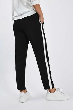 Side Stripe Peg Trousers - Topshop