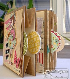 Mini Paper bag album using October Afternoon Sidewalks collection.