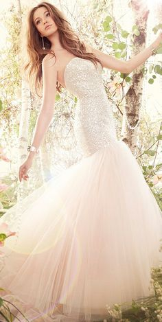 Sparkle + tulle gown