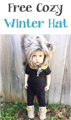 I love these Cozy Winter Hats for Babies and Kids... seriously the cutest thing ever!! | TheFrugalGirls.com