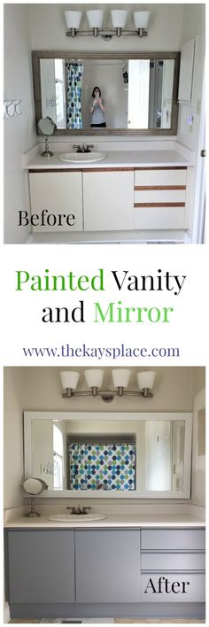 Painting a vanity is pretty easy and a great way to update an old vanity.