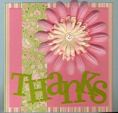 Card Making Ideas | Making Memories Simply Fabulous Kit Projects - Thank You Card