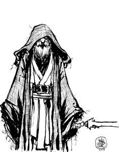 Star Wars - Obi Wan Kenobi by Skottie Young * Comic Book Artists, Comic Artist, Comic Books Art, Skottie Young, Cartoon Pics, Cartoon Movies, Cartoon Art, Young Art, Pop Culture Art